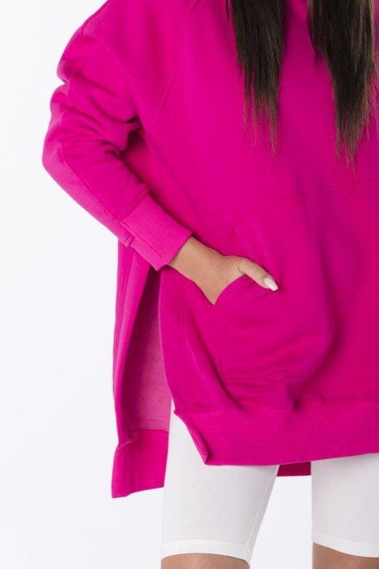 bluza oversize z rozcięciami