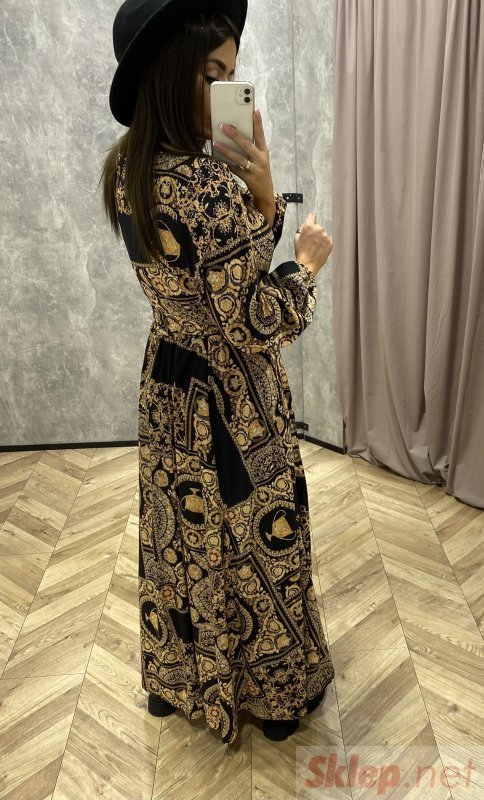 maxi wzorzysta sukienka