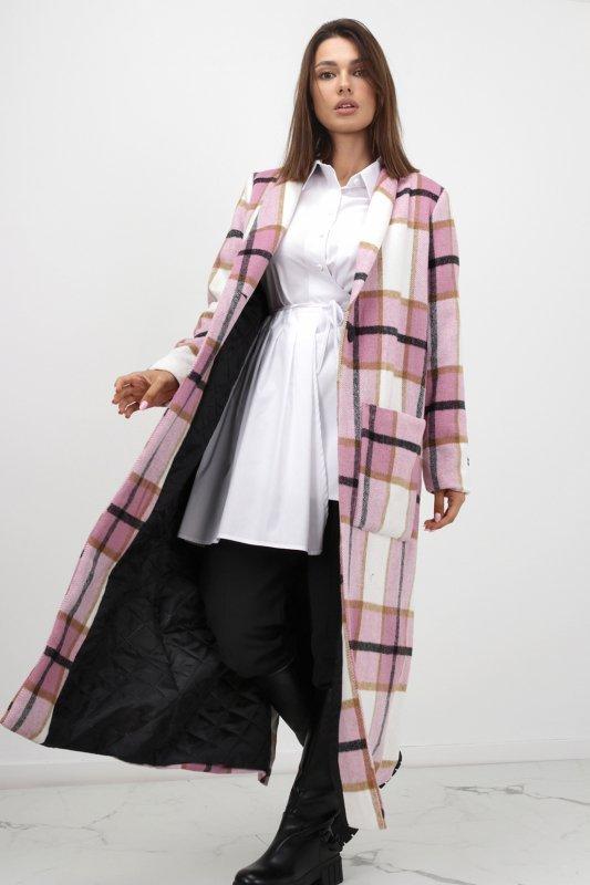 płaszcz w kratę