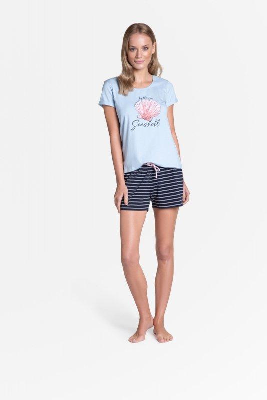 Piżama Tickle 38896-50X Błękitno-Granatowa