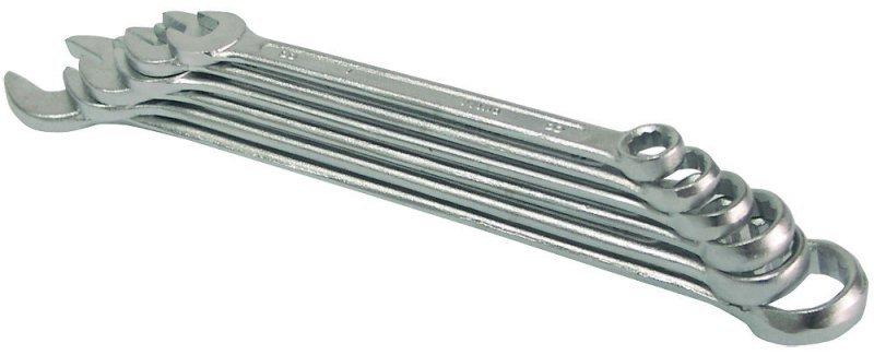 Klucz oczkowo-płaski, kpl. 12 szt., 6-22mm