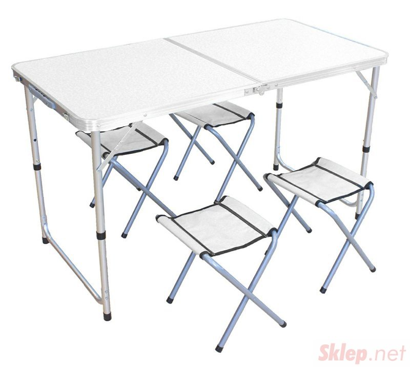 AG288B Stół turystyczny alu. 4 krzesła