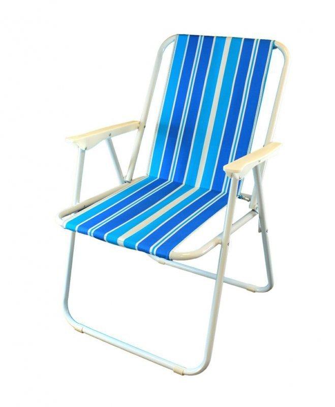 AG294A Krzesło plażowe niebieskie alu