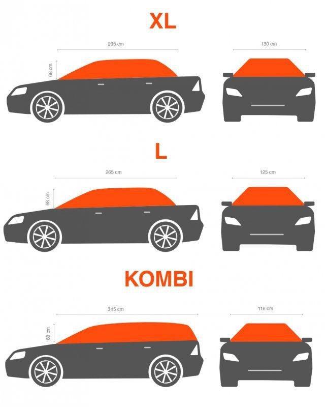 CP58137 Półplandeka przeciwszronowa - sedan - rozmiar L