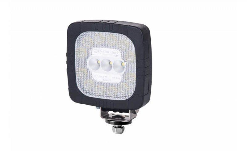 Lampa robocza hor 111 ze światłem cofania, diodowa 12/24 v (przewód 3x0,75 mm2, długość 1,5 m, strumień świetlny 650 lm)