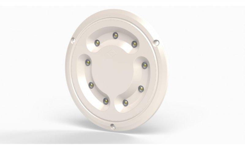 Lampa oświetlenia wnętrza hor 66, okrągła, diodowa 12/24 v (nowy korpus)