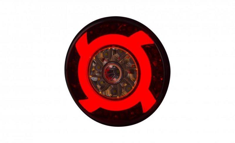 Lampa zespolona tylna hor 75 - lucy, diodowa 12/24v (ze śrubami, światło cofania, światło przeciwmgielne, światło pozycyjne, prz