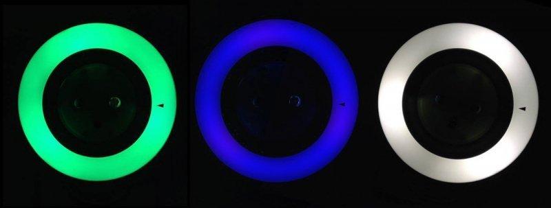Lampka nocna z czujnikiem zmierzchu 3LED z gniazdem 230V  MCE122 Maclean Energy 3 kolory