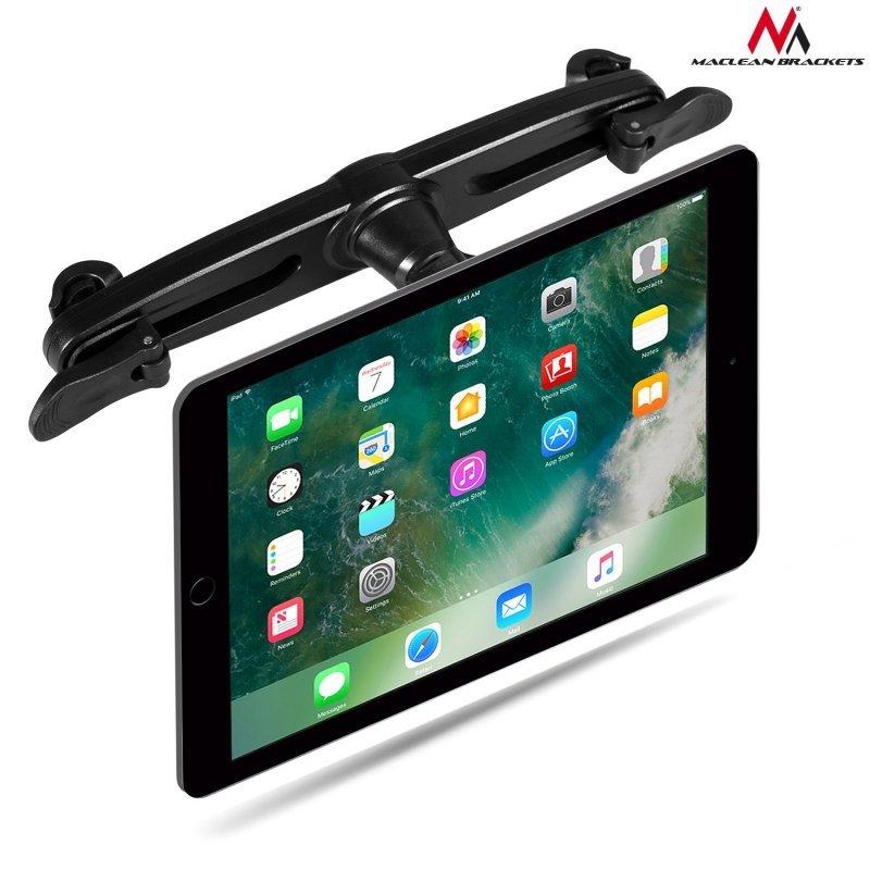 Magnetyczny uchwyt do auta do zagłówka na tablet / telefon Maclean MC-821, mocny! do 10 cali, mocowanie na prętach zagłówka, 2 b