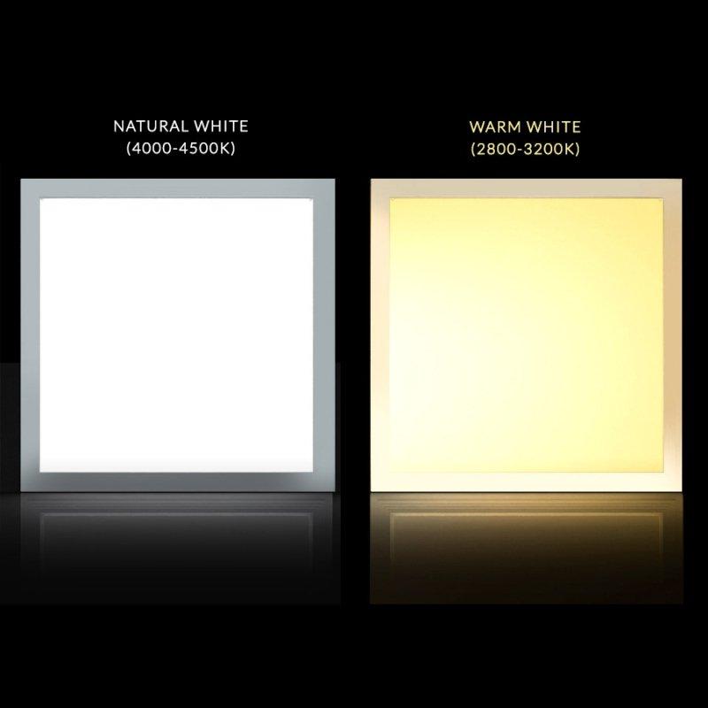 Panel LED sufitowy slim 40W, 3200lm Neutral White (4000K) Maclean Energy  MCE540 NW 595x595x8mm raster, funkcja FLICKER-FREE