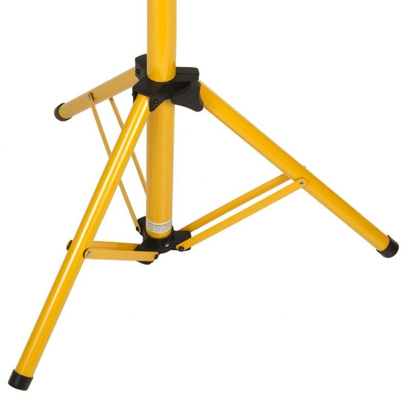 Maclean Energy stand stojak statyw roboczy dla 2 naświetlaczy LED Yellow, kolor żólty, wykonany ze stali, max. wysokość 1,5m  MC