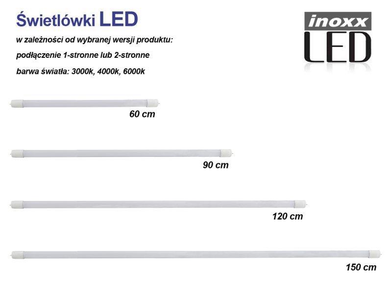 Świetlówka led 120cm 18w 3000k t8 g13 ciepła