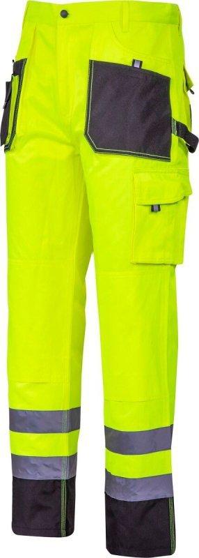 """Spodnie ostrzegawcze czarno-żółte, """"2xl"""", ce, lahti"""