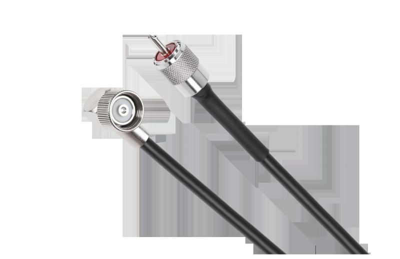 Kabel do anteny samochodowej CB z wtykiem LC27 i wtykiem UHF 3,6m
