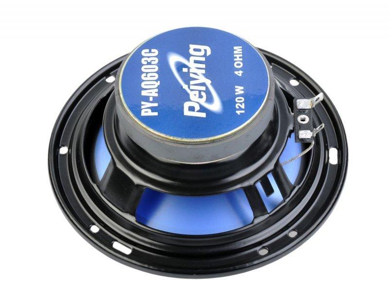 """PYAQ603C Głośnik samochodowy PY-AQ603C 6"""" 120W"""