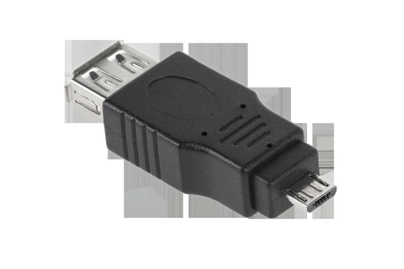 Złącze USB 2.0 gniazdo A - wtyk micro 5pin