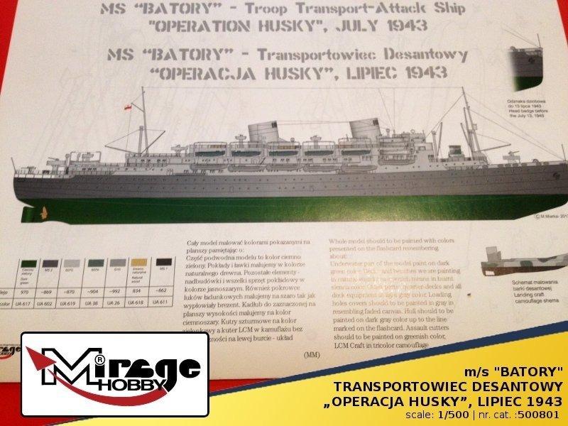 """""""BATORY"""" Transportowiec Desantowy """"Operacja HUSKY"""" Lipiec 1943"""