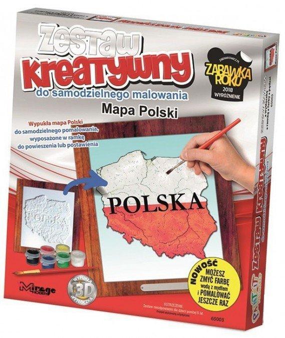 POLSKA - Wypukła Malowanka Seria POLSKA - Mapa Polski
