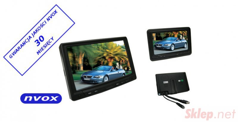 Monitor samochodowy lub wolnostojący LCD 7cali cali z ekranem dotykowym VGA 12V 230V... (NVOX MP