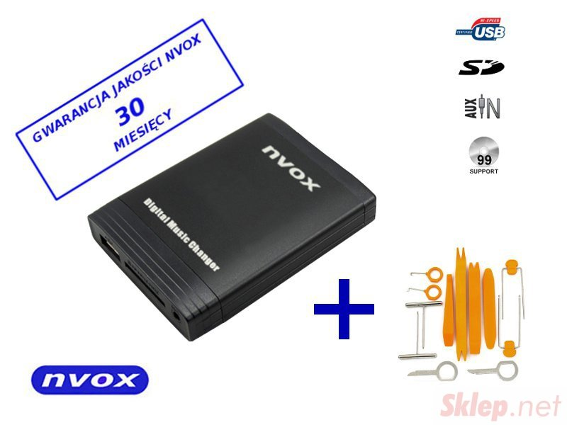 Zmieniarka cyfrowa emulator MP3 USB SD BMW ROVER MINI 40 PIN... (NVOX NV1086m BMW2 40PIN)