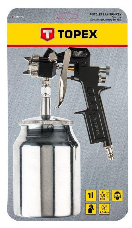 Pistolet lakierniczy dolny zbiornik 1.0 l, dysza 1.5 mm