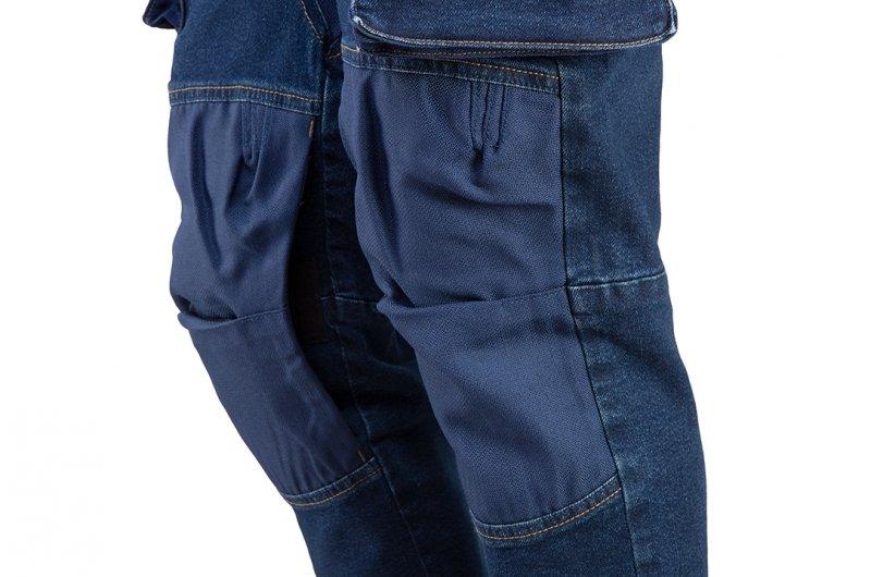 Spodnie robocze DENIM, wzmocnienia na kolanach, rozmiar L