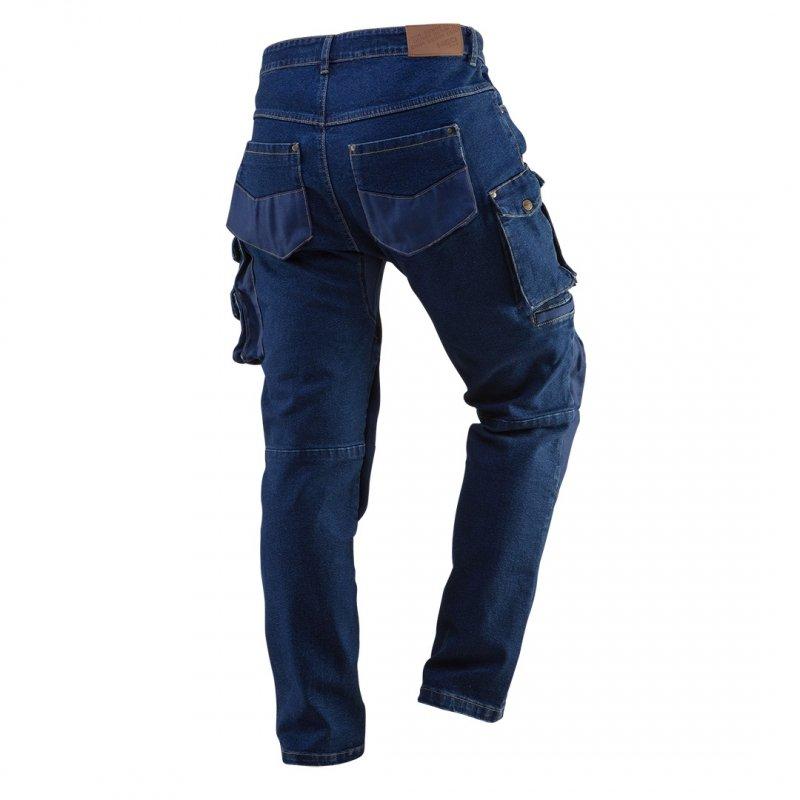 Spodnie robocze DENIM, wzmocnienia na kolanach, rozmiar XS