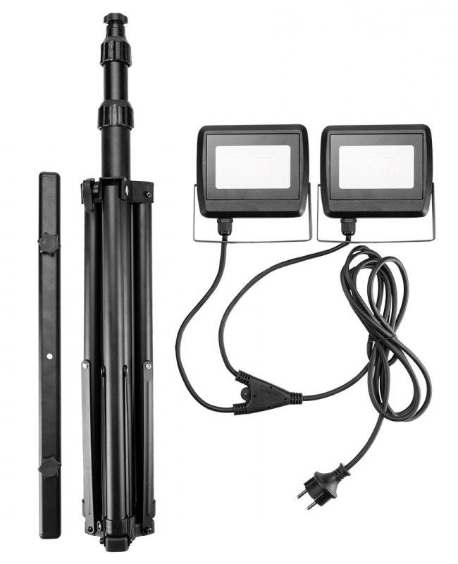 Reflektor podwójny 2x30W SMD LED 5400lm na statywie 1.8m