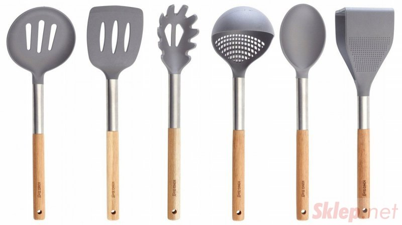 6 elementowy zestaw akacjowych przyborów kuchennych Kinghoff KH-1325