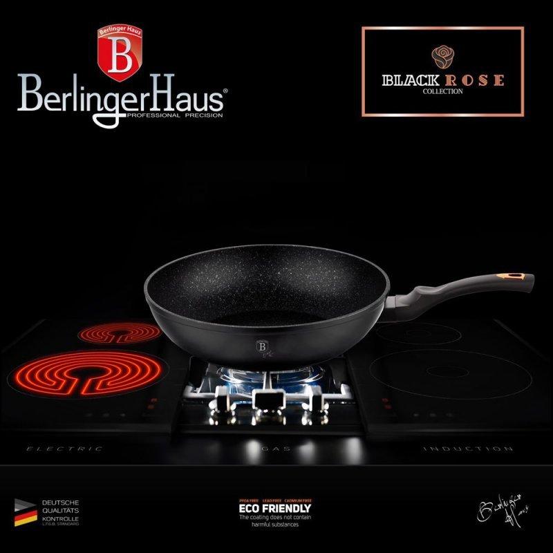 WOK GRANITOWY 30cm BERLINGER HAUS BLACK ROSE BH-6178