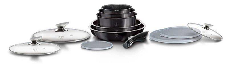 Zestaw garnków Click&Cook Berlinger Haus BH-6910 CARBON PRO