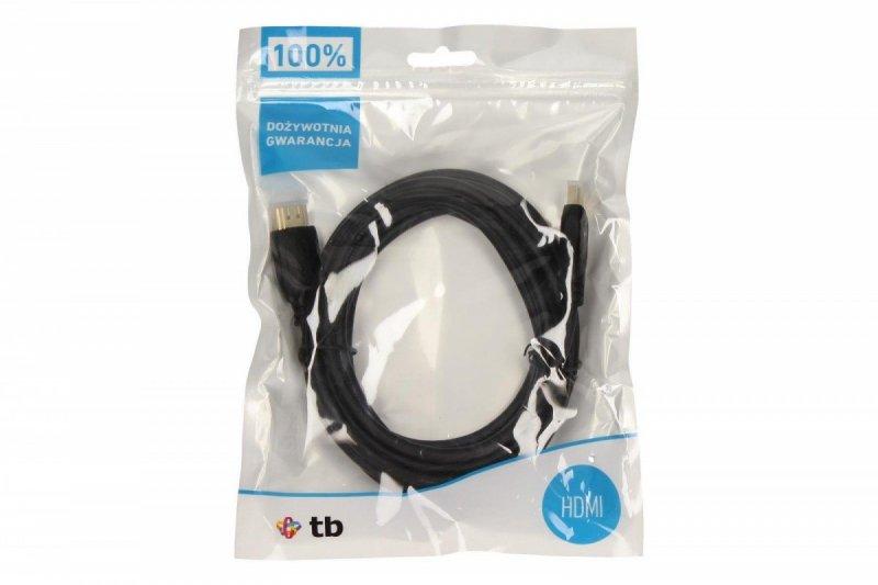 Kabel HDMI 1.4 pozłacany 3m.