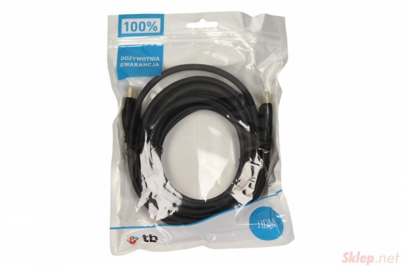 Kabel HDMI 1.4 pozłacany 5m.
