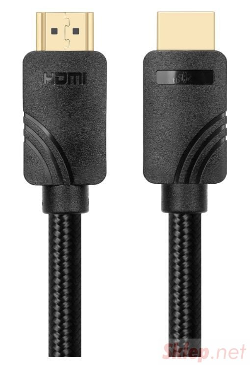 Kabel HDMI v 2.1 premium 2m czarny