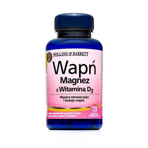 Wapń i Magnez z Witaminą D 120 Tabletek
