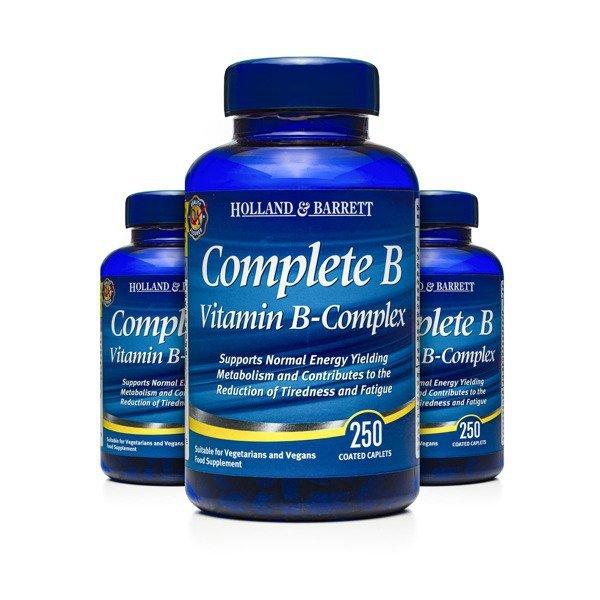Zestaw Witamin 2+1 (Gratis) Complete B Witamina B Complex 250 Kapletek