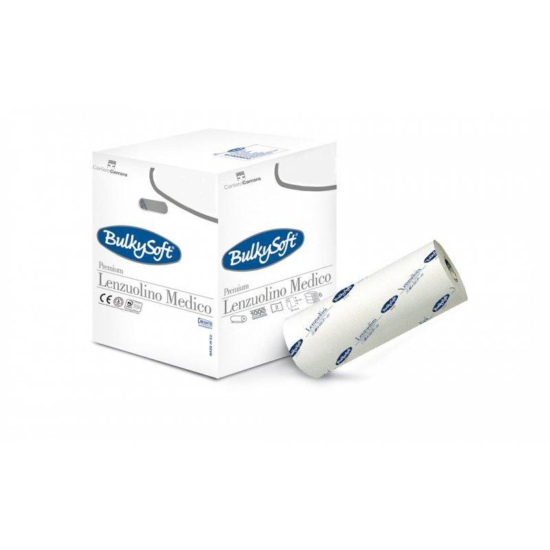 Bulkysoft podkład medyczny-60 cm X 80 m Biały, dwuwarstwowy