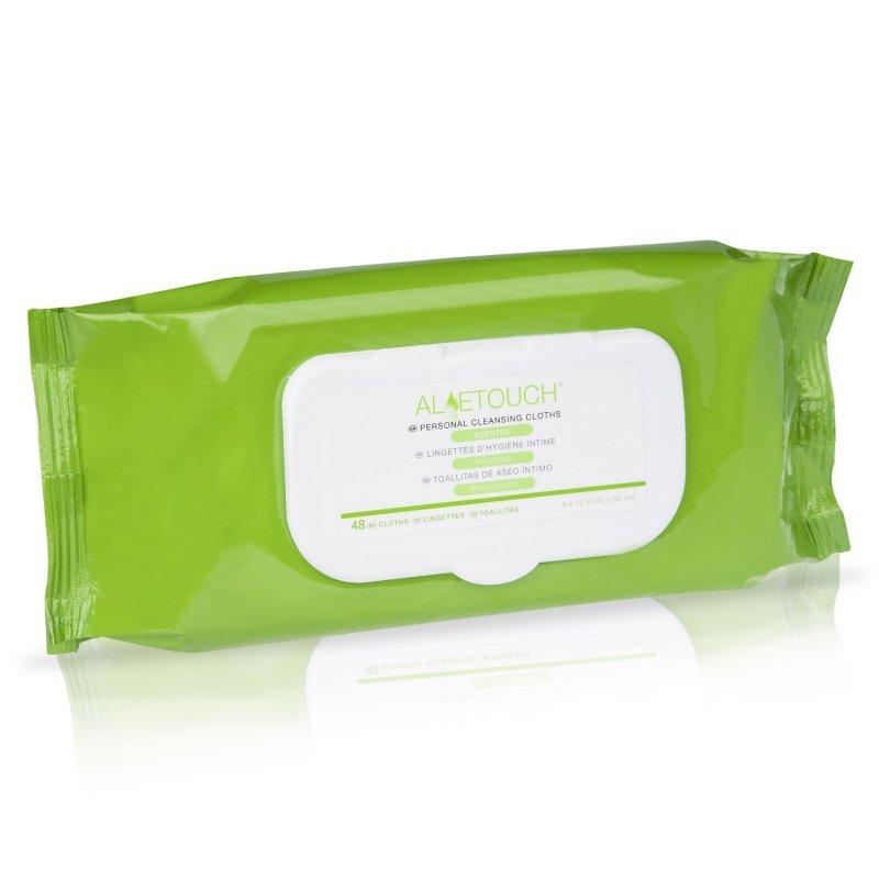 AloeTouch chusteczki nawilżane  Myjki do pielęgnacji skóry i ciała pacjenta oraz okolic szczególnie narażonych na podrażnienia