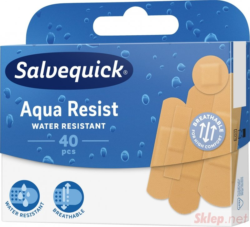 Salvequick Aqua Resist -40 szt Zestaw plastrów wodoodpornych