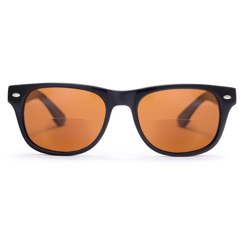 Visioptica by Visiomed France Miami Beach-Lustrzany Brąz, Lakierowana Czerń Okulary przeciwsłoneczne z polaryzacją