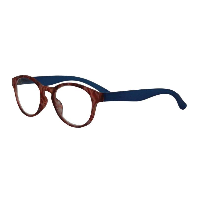 Visioptica By Visiomed France Delhi-+ 1 Brązowo fioletowe Okulary korekcyjne do czytania