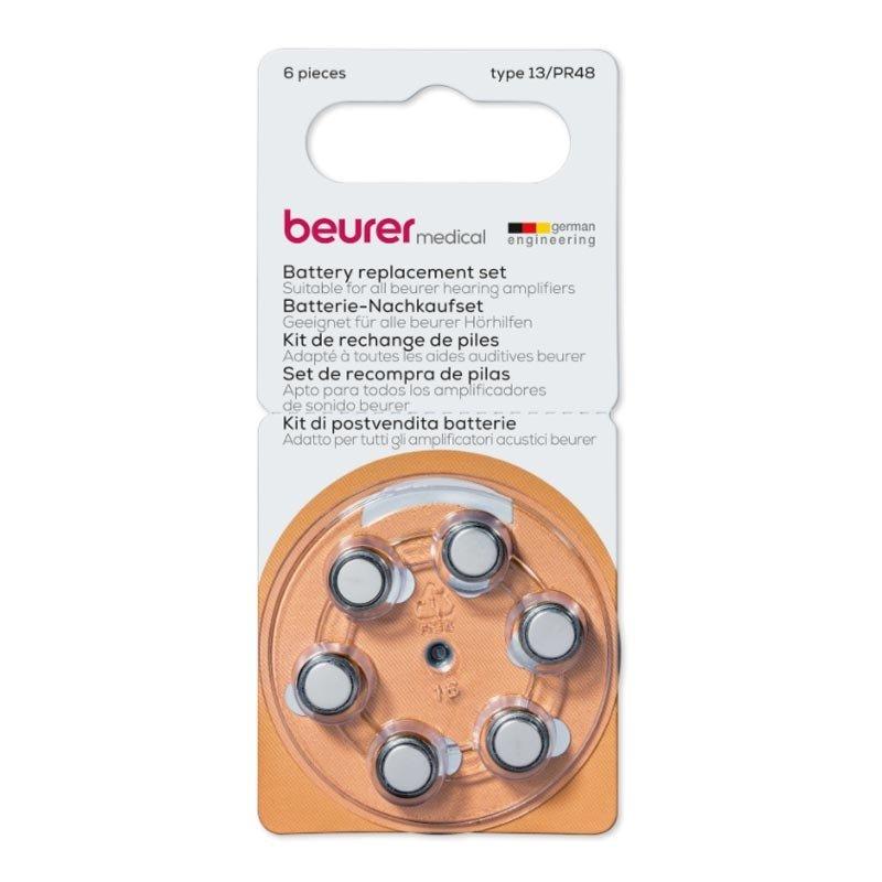 baterie BEURER Zestaw uzupełniający baterii do aparatów słuchowych Beurer HA 20, HA 50 x 6 szt