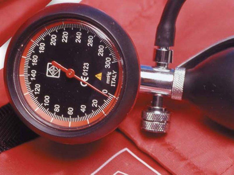 GIMA LONDON czerwony Ciśnieniomierz zegarowy
