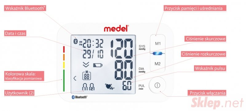 MEDEL iCARE Ciśnieniomierz naramienny 22-44 cm z Bluetooth