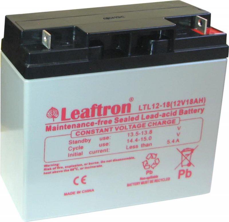 Akumulator żelowy 12V 18Ah Leaftron LTL12-18 Long Life (10-letni)