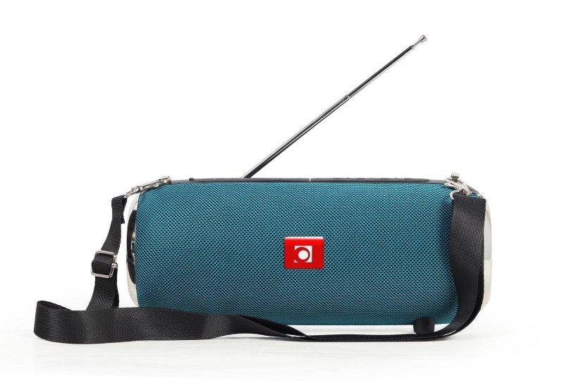 Głośnik przenośny Bluetooth z mikrofonem i funkcją radia Gembird (zielony)