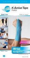 K-Active Kinesiology Tape PreCut Nadgarstek