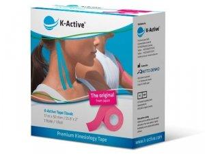 K-Active Kinesiology Tape kolor różowy 5 cm/17 m (Nitto)