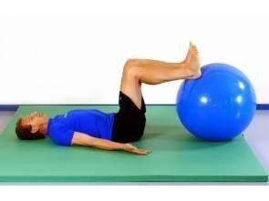 Piłka gimnastyczna TB 75 cm niebieska