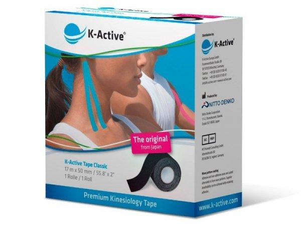 K-Active Kinesiology Tape kolor czarny 5 cm/17 m (Nitto)